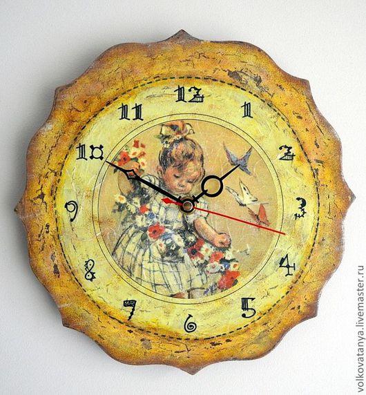 """Часы для дома ручной работы. Ярмарка Мастеров - ручная работа. Купить Часы """"Детство"""". Handmade. Часы, часы для дома"""