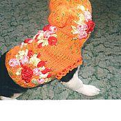 """Для домашних животных, ручной работы. Ярмарка Мастеров - ручная работа Свитерок """"Летние мотивы"""". Handmade."""