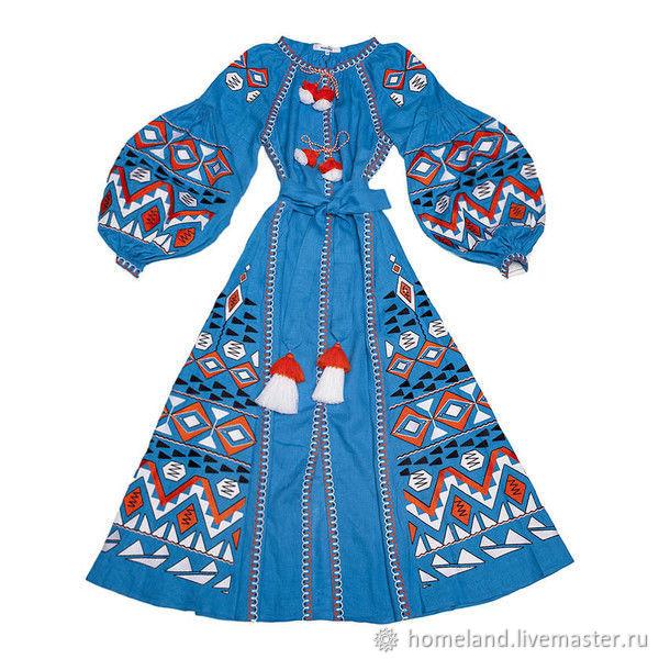 8a5d8c3088de7 Embroidered dress Ukrainian vyshyvanka boho – shop online on ...