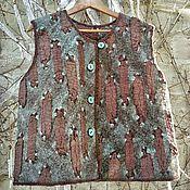 """Одежда ручной работы. Ярмарка Мастеров - ручная работа Жилет """" Шоколад и мята """". Handmade."""