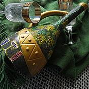 Посуда ручной работы. Ярмарка Мастеров - ручная работа Кувшин керамика ВИНОГРАДНЫЙ БАР (бутылка без содержимого). Handmade.