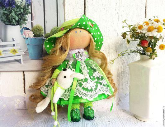 Куклы тыквоголовки ручной работы. Ярмарка Мастеров - ручная работа. Купить куколка-лето, кокетка в шляпе. Handmade. интерьерная кукла