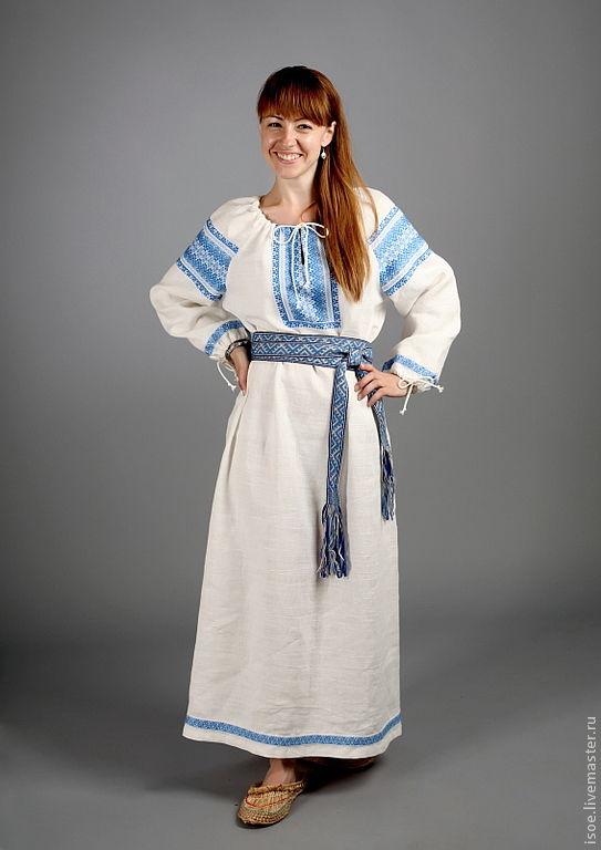 Женская славянская рубаха своими руками 64
