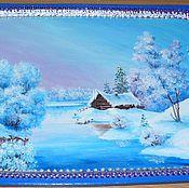 """Для дома и интерьера ручной работы. Ярмарка Мастеров - ручная работа поднос """"Зима"""". Handmade."""