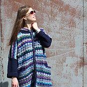Одежда ручной работы. Ярмарка Мастеров - ручная работа Пальто вязаное Северное сияние. Handmade.