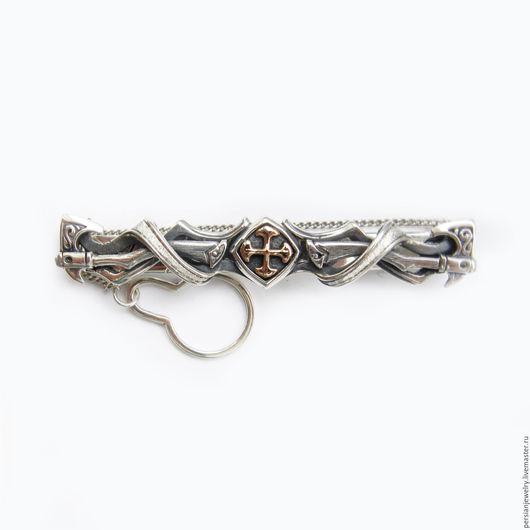 """Украшения для мужчин, ручной работы. Ярмарка Мастеров - ручная работа. Купить Зажим для галстука """"Легенда"""". Handmade. Белый, украшения из серебра"""
