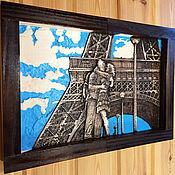 Картины и панно handmade. Livemaster - original item The painting is custom-made of wood - Churikova in Paris. Handmade.