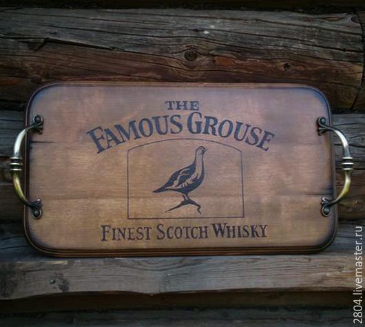 Кухня ручной работы. Ярмарка Мастеров - ручная работа. Купить Подарок мужчине Поднос Виски The Famous Grouse Кухонная утварь. Handmade.