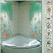 Для дома и интерьера ручной работы. Ярмарка Мастеров - ручная работа Шторы для ванной-комнаты. Handmade.