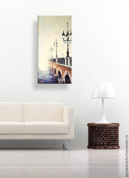 Город ручной работы. Ярмарка Мастеров - ручная работа. Купить Картина маслом Где-то во Франции.... Авторская живопись на холсте. Handmade.