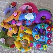 Мягкие игрушки ручной работы. Ярмарка Мастеров - ручная работа Набор цифр. Handmade.