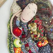 Куклы и игрушки ручной работы. Ярмарка Мастеров - ручная работа сон №3 про яблоки текстильная кукла ручной работы. Handmade.