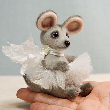 Куклы и игрушки ручной работы. Ярмарка Мастеров - ручная работа Тедди мышка Офелия, символ 2020 года. Handmade.