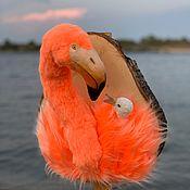 Ключницы ручной работы. Ярмарка Мастеров - ручная работа Фламинго на спиле. Handmade.