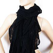 Винтаж handmade. Livemaster - original item Openwork scarf-stole in black. Handmade.