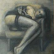 Картины и панно ручной работы. Ярмарка Мастеров - ручная работа Девушка. Handmade.