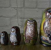 Dolls1 handmade. Livemaster - original item Matryoshka Owls. Handmade.