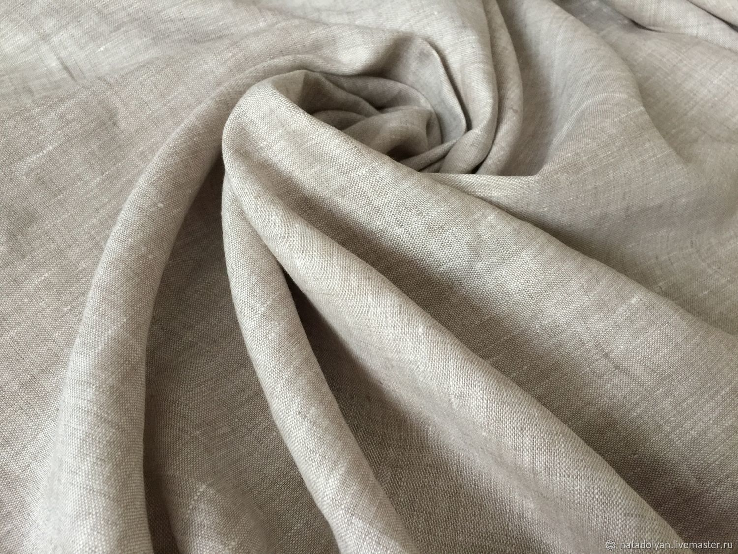 Flax 100% suiting ' Melange taupe', Fabric, Ivanovo,  Фото №1