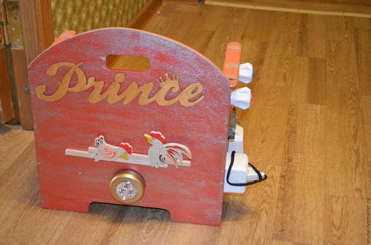Развивающие игрушки ручной работы. Ярмарка Мастеров - ручная работа. Купить стул бизиборд. Handmade. Ярко-красный
