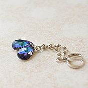 Украшения handmade. Livemaster - original item Long earrings with Swarovski blue crystals buy Depth. Handmade.