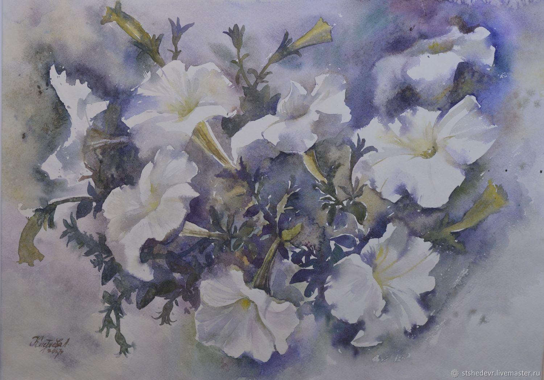 Акварельная картина В белом танце, Картины, Магнитогорск,  Фото №1