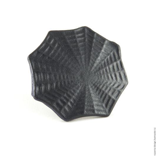 """Кольца ручной работы. Ярмарка Мастеров - ручная работа. Купить Элегантное и стильное кольцо """"Паутина"""" из натуральной кожи. Handmade. Черный"""
