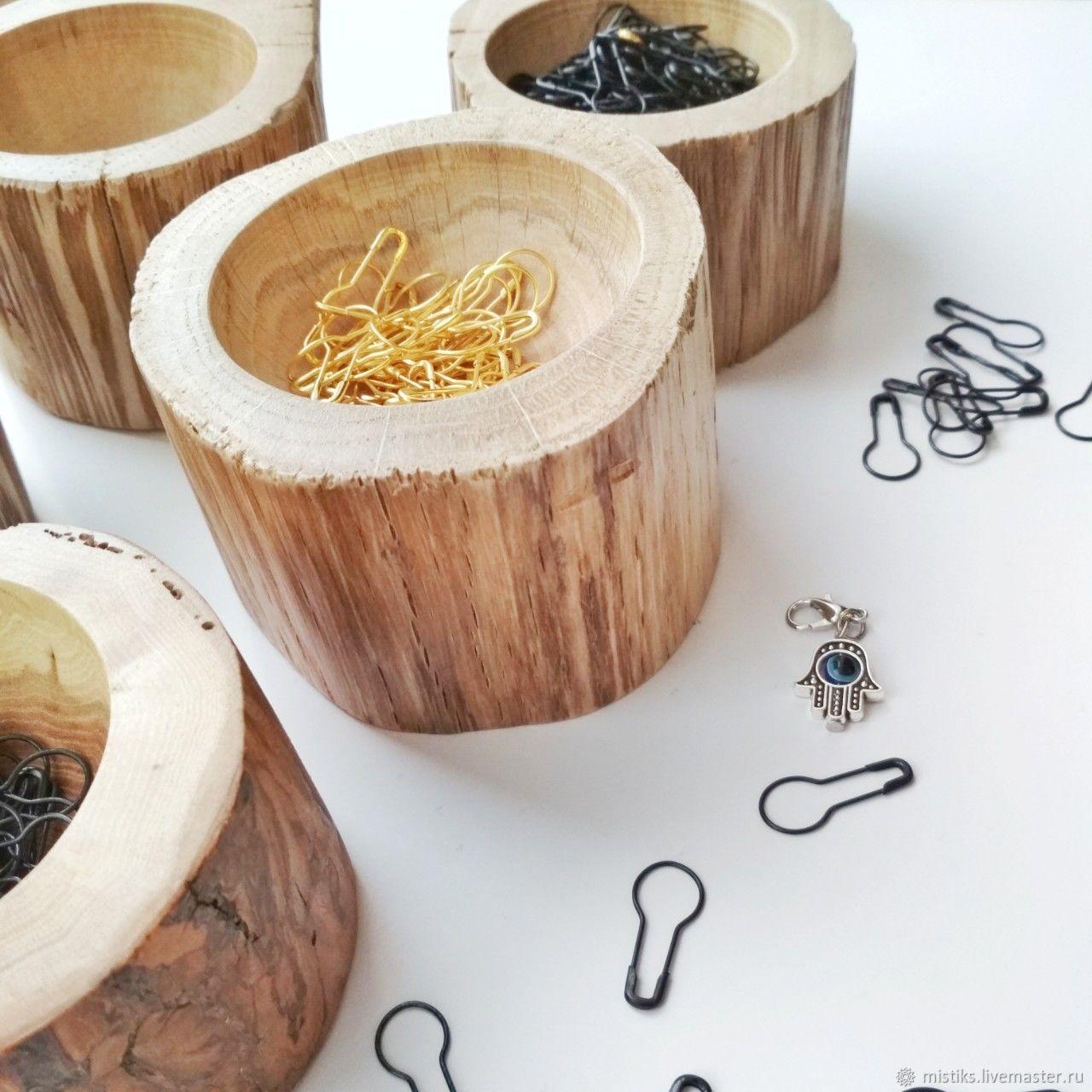 """Деревянная подставка под маркеры для вязания """"Bark Bowl"""", Блокноты, Винница, Фото №1"""