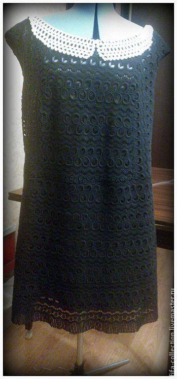 Платья ручной работы. Ярмарка Мастеров - ручная работа. Купить Кружевное а-ля 60е. Handmade. Черный, лето, жемчуг