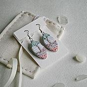 Украшения ручной работы. Ярмарка Мастеров - ручная работа Серьги бохо с вышивкой Туман, вышивка по ткани. Handmade.