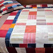 Для дома и интерьера ручной работы. Ярмарка Мастеров - ручная работа Лоскутное покрывало и подушка-думка. Handmade.