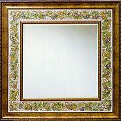 Для дома и интерьера handmade. Livemaster - original item Mirror vine Painting pottery Painting ceramic tile. Handmade.