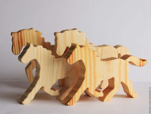 Развивающие игрушки ручной работы. Ярмарка Мастеров - ручная работа. Купить Лошадка игрушка деревянная. Handmade. Конь, игрушка из дерева