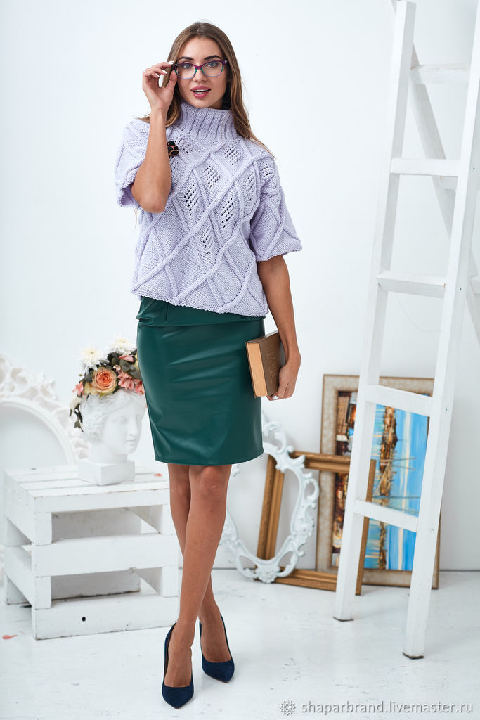 Lilac sweater with short sleeves, Sweaters, Moscow,  Фото №1