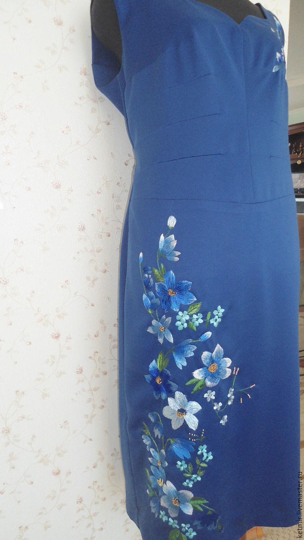 Шелк с вышивкой платья 91