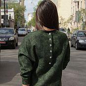 Одежда ручной работы. Ярмарка Мастеров - ручная работа Валяное платье ручной работы Изумрудный город. Handmade.