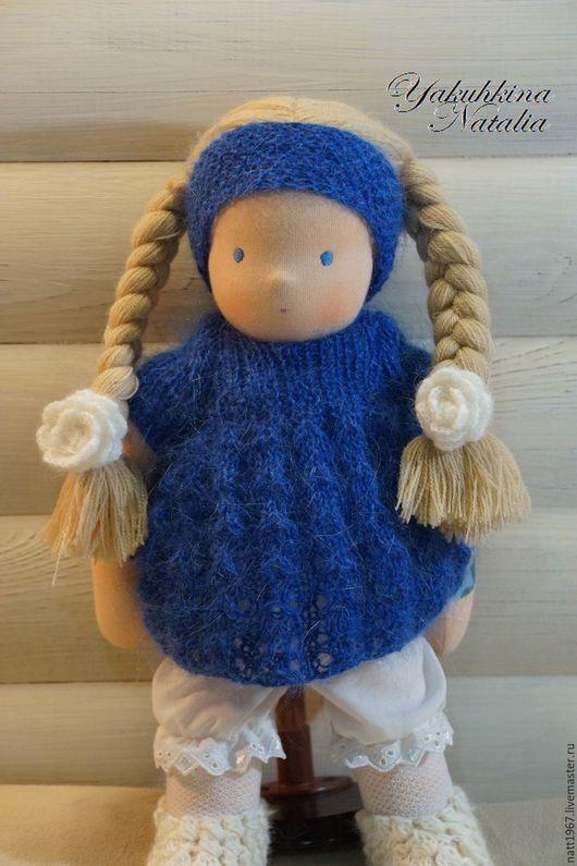 Вальдорфская игрушка ручной работы. Ярмарка Мастеров - ручная работа. Купить Машенька - вальдорфская кукла. Handmade. Тёмно-синий