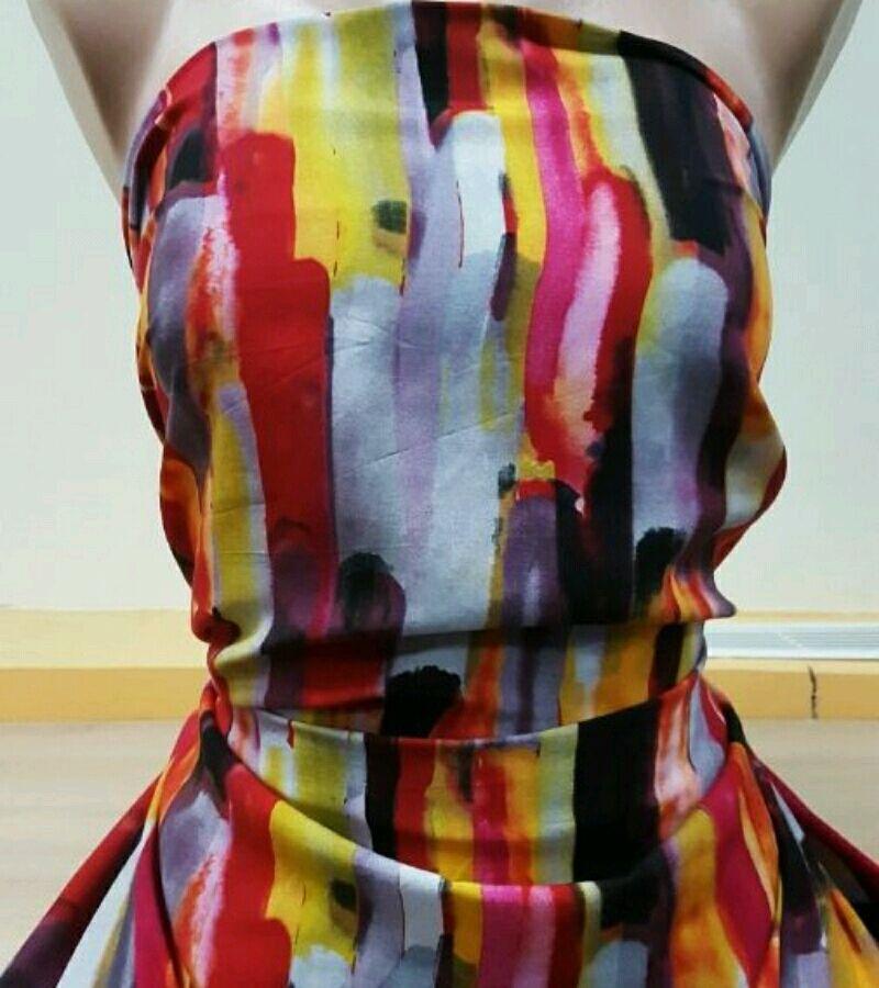 Ткань штапель принт 3D , арт.  ФА 02, Ткани, Москва,  Фото №1