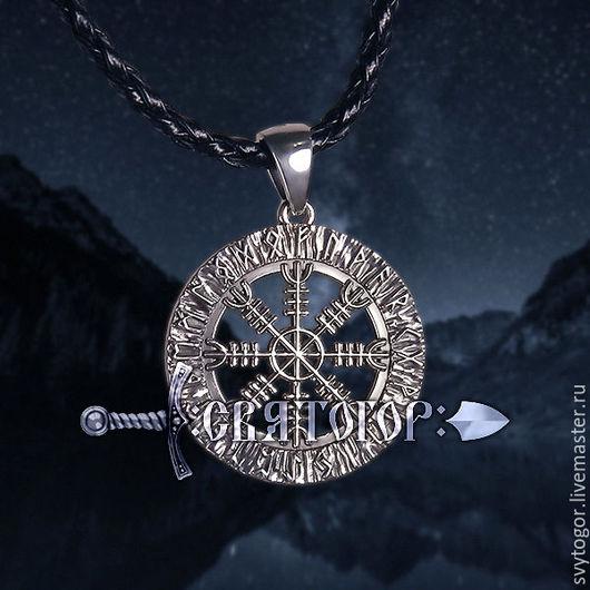Серебряная подвеска `ШЛЕМ УЖАСА В ФУТАРКЕ`