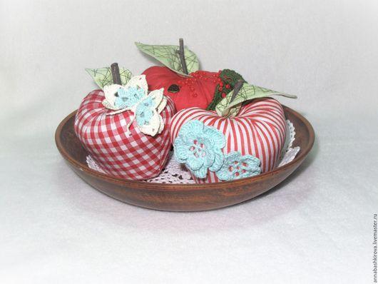Игрушки Башкировой Анны, Мастерская Мамы, яблоко наливное, яблочное ассорти, декор для дома