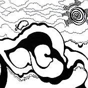 """Картины и панно ручной работы. Ярмарка Мастеров - ручная работа Графическая картина """"Барашек в облаках"""". Handmade."""