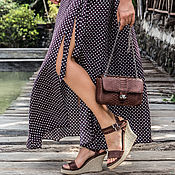 Одежда handmade. Livemaster - original item Long slit skirt Savitri. Handmade.