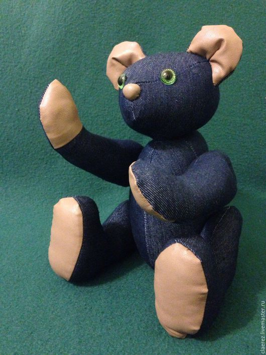 Игрушки животные, ручной работы. Ярмарка Мастеров - ручная работа. Купить Джинсовый Мишка. Handmade. Тёмно-синий, медведь тедди