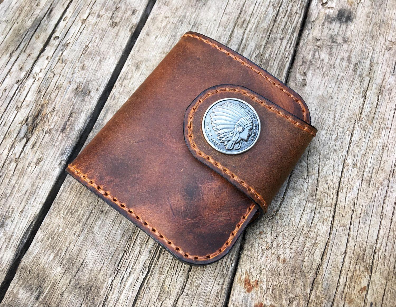 Кошельки и визитницы ручной работы. Ярмарка Мастеров - ручная работа. Купить Классический кошелек в формате Bi-fold. Handmade.