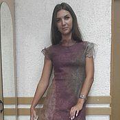 Одежда ручной работы. Ярмарка Мастеров - ручная работа Валяное платье Золото в вине. Handmade.