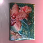 Канцелярские товары handmade. Livemaster - original item Passport cover Butterfly Orchid. Handmade.