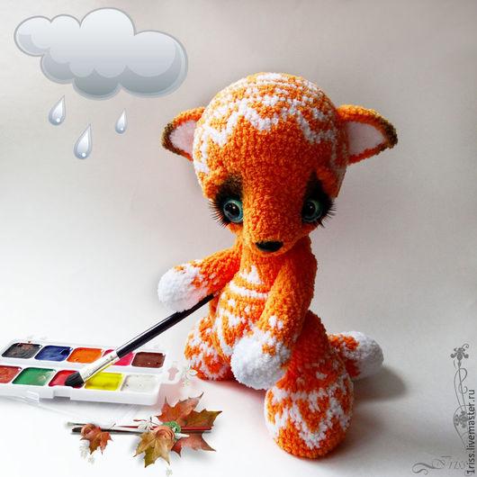 Игрушки животные, ручной работы. Ярмарка Мастеров - ручная работа. Купить Лисёнок, что рисует дождь.... Handmade. Оранжевый, Ализе