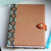 Канцелярские товары handmade. Livemaster - original item diary personal. Diary buy. A gift to a colleague. Handmade.