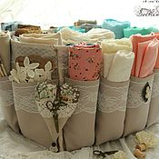 Для дома и интерьера handmade. Livemaster - original item Organizer storage fabric for craftswomen beige. Handmade.