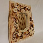 Зеркала ручной работы. Ярмарка Мастеров - ручная работа Зеркало с рамкой из спилов можжевельника. Handmade.