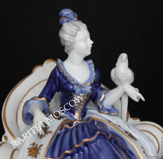 Винтажные предметы интерьера. Ярмарка Мастеров - ручная работа. Купить Дама с попугаем девушка птица фарфор Германия. Handmade. Раритет